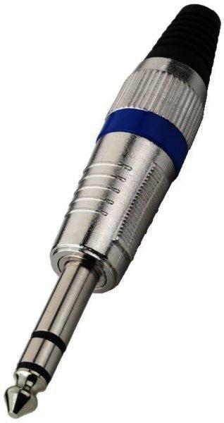 T-120/BL 6,3mm Stereo Klinkenstecker Kabeleinlass Ø 7mm