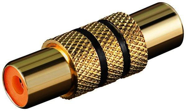 Audio-Adapter mit schwarzem Farbring Cinch Kupplung>Cinch Kupplung(vergoldet)