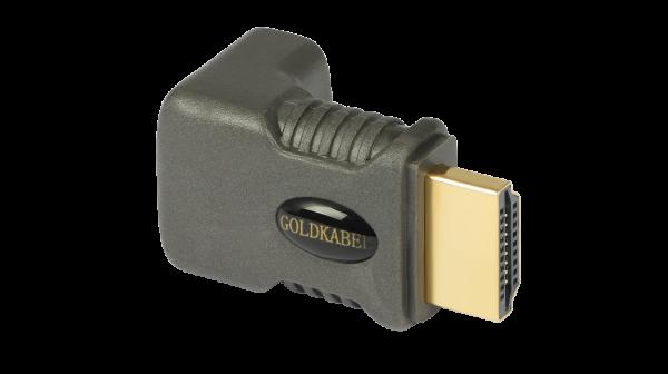 Goldkabel 90 Grad Winkeladapter für HDMI