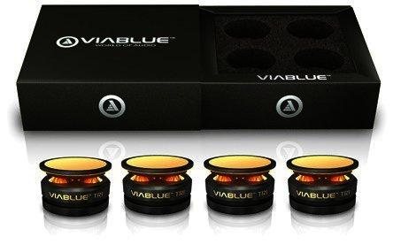 ViaBlue Tri Absorber zur Lautsprecherentkopplung, schwarz, 4 Stück