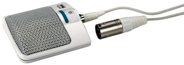 ECM-306B/WS Grenzflächen-Mikrofon mit 6 Meter Anschlusskabel 3-Pol-Mini-XLR/XLR