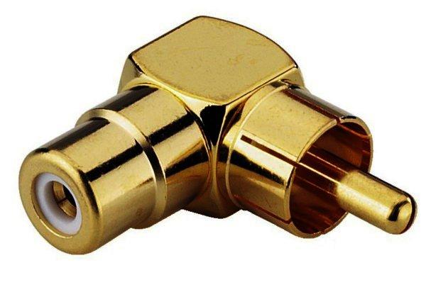NTA-706SG - Cinch-Stecker auf Cinch-Buchse, abgewinkelt