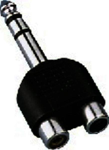 NTA-178 6,3mm-Stereo-Klinkenstecker auf 2x Cinch-Buchse