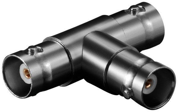 BNC-Kupplung > 2 x BNC-Kupplung T-Adapter mit Goldkontakten