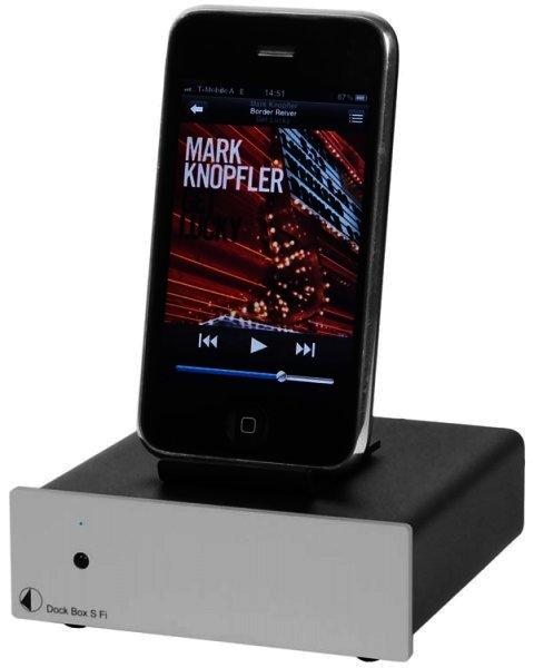 Pro-Ject Dock Box S Fi - Aktive iPod Dockingstation - Silber