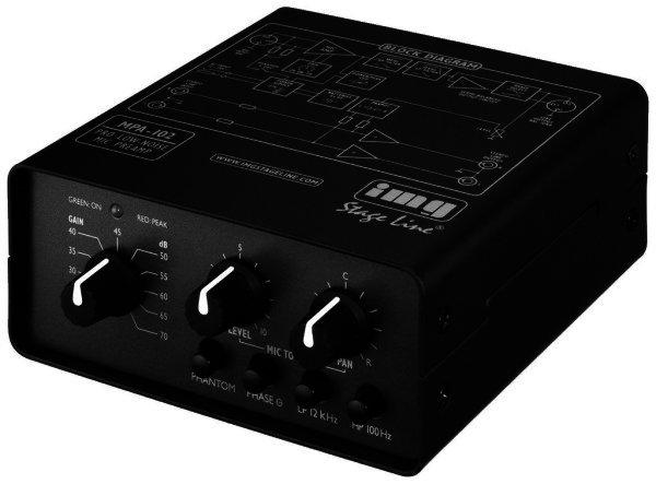 MPA-102 - Mikrofon Vorverstärker Netz- Batteriebetrieb