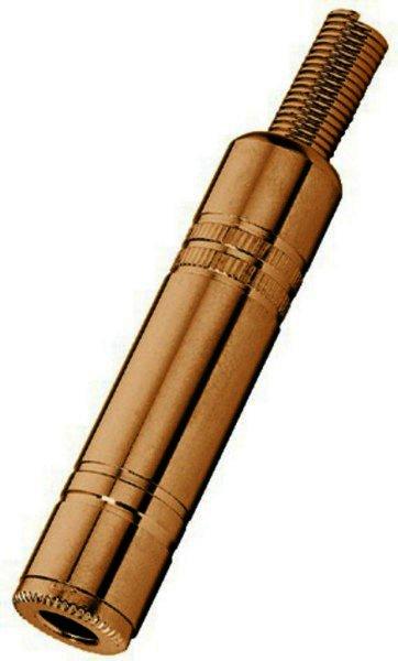 T-613JMG 6,3mm Stereo Klinkenkupplung Metall vergoldet