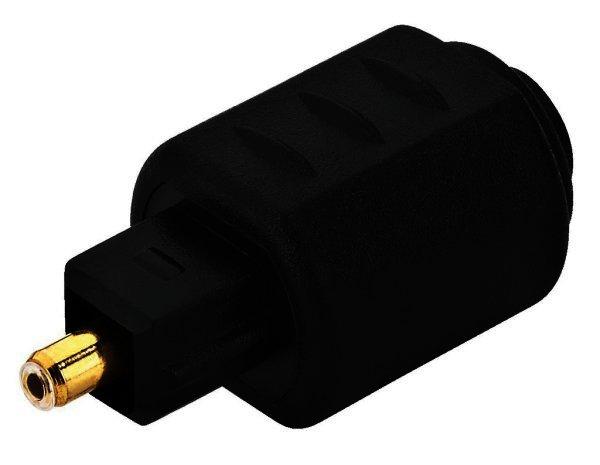 Toslink Adapter - Glasfaserkabel Adapter, optokabel, Lichtleiter Toslink Buchse und Stecker