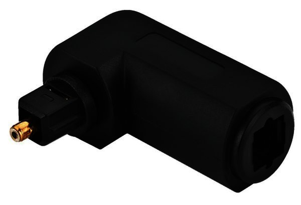 Toslink Winkeladapter 90 Grad Opto Winkel - optisches Kabel Winkelverbinder