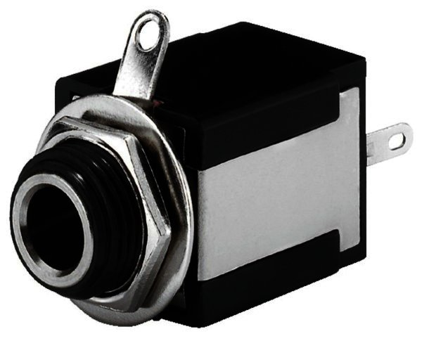 T-636I - 6,3mm Stereo Klinken-Einbaubuchse