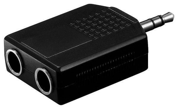 Audio-Adapter 3,5mm stereo Stecker>2x6,35mm stereo Ku.