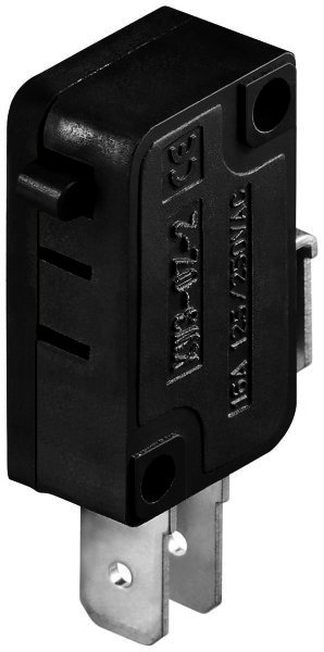Mikroschalter Wechselschalter / 1 polig - Standardtyp max. Werte: 16A / 125 VDC / 250 VAC max. Dur
