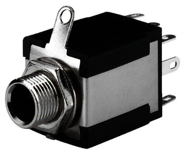 T-638JS - 6,3mm Stereo Klinken-Einbaubuchse