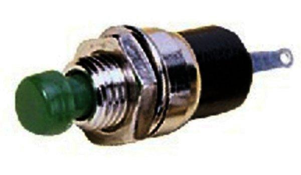 M-412/GN - Miniatur-Drucktaster Metallausführung, Grün