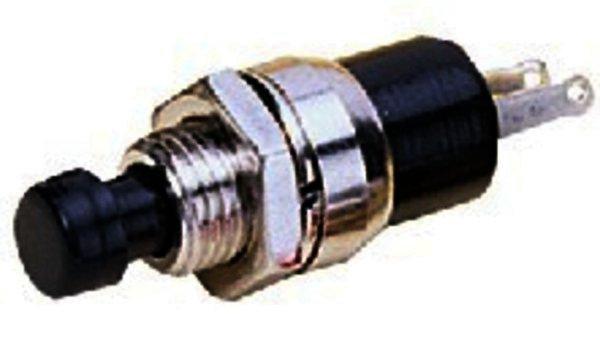 M-412/SW Miniatur-Drucktaster Metallausführung, schwarz