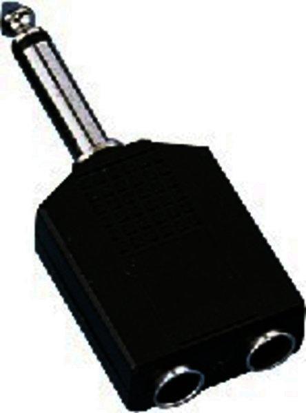 NTA-199 6,3mm Mono-Klinkenstecker 2x6,3mm-Mono-Kupplung