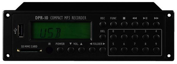 DPR-10 - Kompakter MP3-Recorder USB u. SD/MMC-Card-Slot