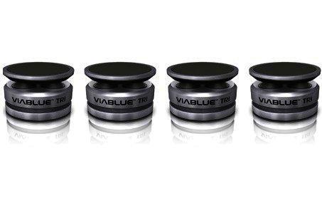 ViaBlue Tri Absorber zur Lautsprecherentkopplung, Silber, 4 Stück