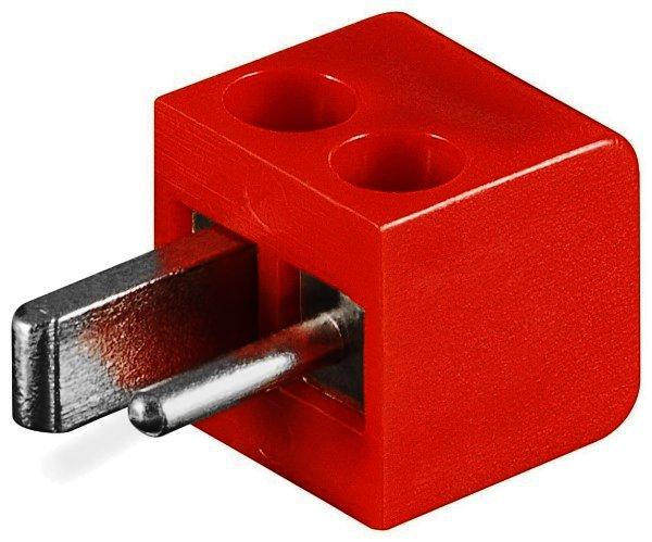 Lautsprecherstecker - rot Schraubanschluss