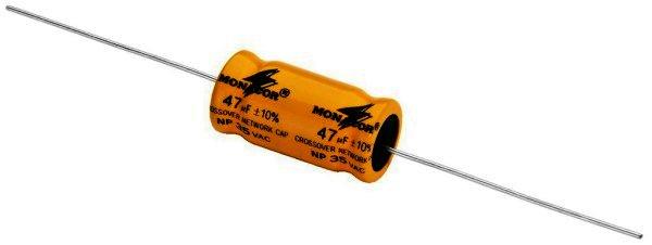 Bipolarer Elektrolytkondensator 47µF, RM 30mm, 4 Stück