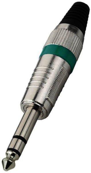 T-120/GN 6,3mm Stereo Klinkenstecker Kabeleinlass Ø 7mm