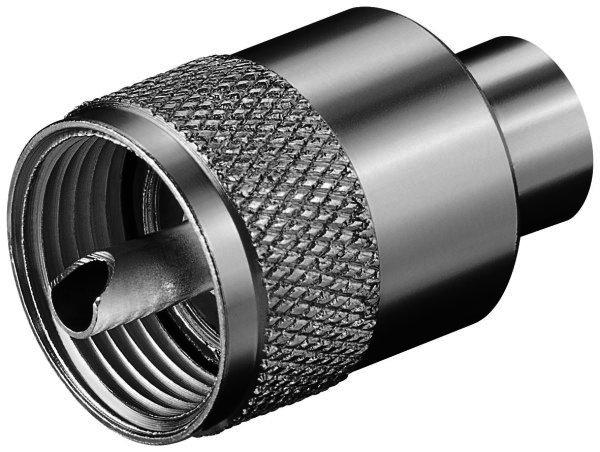 UHF-Stecker für max. 5,3 mm Kabel RG 58/U