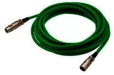 MEC-100/GN - XLR-Kabel - DMX / Mikrofon - 1,0m grün