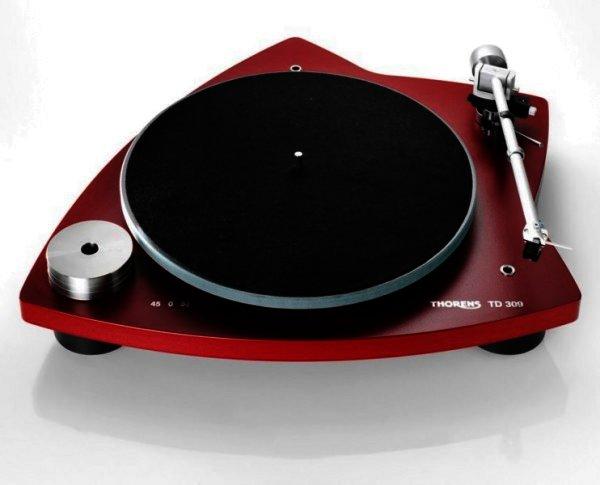 Thorens TD 309 - manueller Plattenspieler - rot