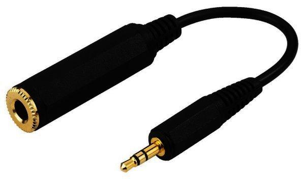 ACA-356S - 3,5mm Klinkenstecker auf 6,3mm Klinkenkupplung Stereo