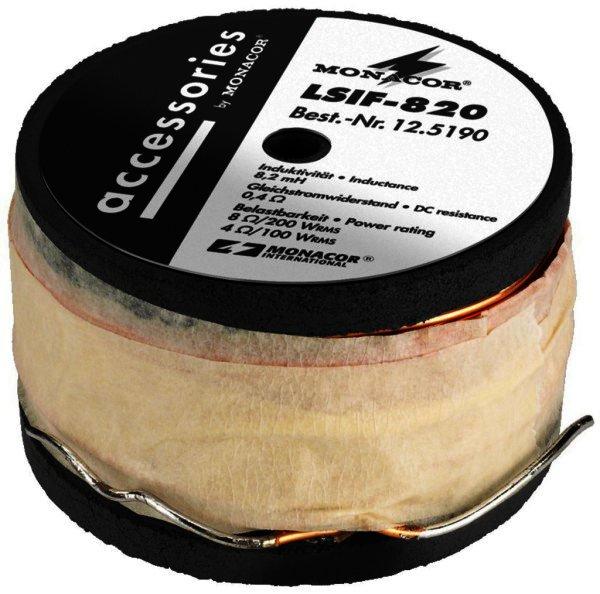 LSIF-820 Ferritkernspule 8,2mH 200W RMS, Draht 1,3mm