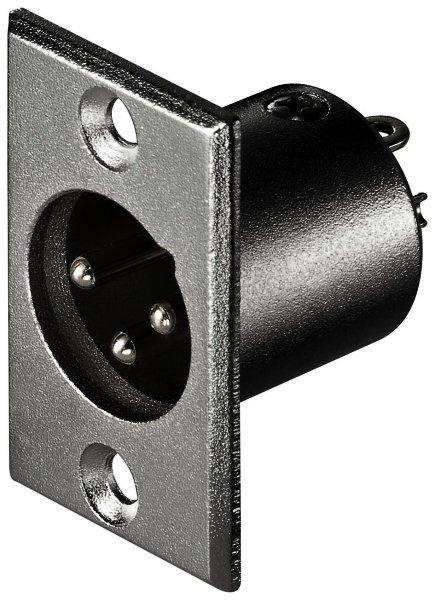 Mikrofon-Einbaustecker, 3-polig