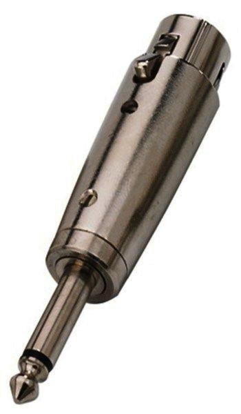 NTA-117 XLR Kupplung auf 6,3mm Mono-Klinkenstecker