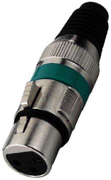 XLR-207J/GN - XLR-Armatur, 3-polig Buchse weiblich - Gr