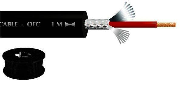 MLC-150/SW - Mikrofonkabel 1x0,7mm², Abgeschirmt, 100m