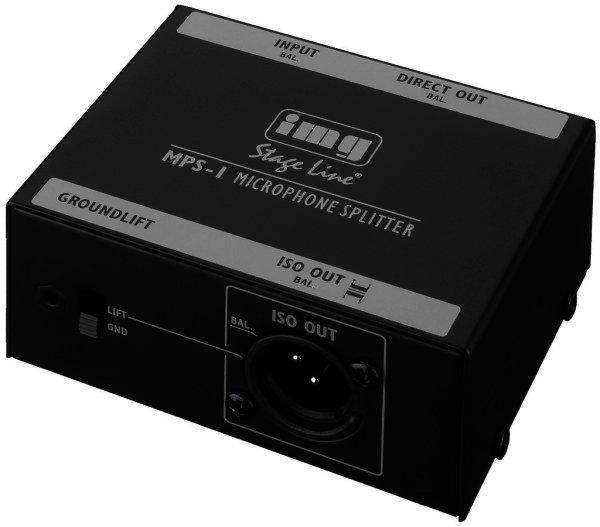 MPS-1 - Mikrofon-Splitter - 1 Mikrofon auf 2 Ausgänge