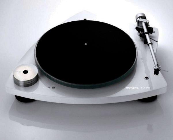 Thorens TD 309 - manueller Plattenspieler - Hochglanz weiss