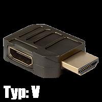 HDMI Winkeladapter Typ V