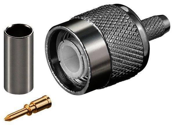 TNC-Crimp-Stecker mit Gold-Pin für RG 58 Kabel