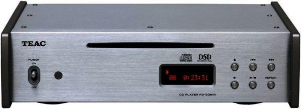 TEAC PD-501HR - CD-Player mit nativer Wiedergabe von DSD-Dateien - silber