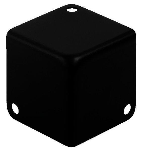 MZF-8502/SW - Metall-Kofferecken 41x41x41mm, schwarz