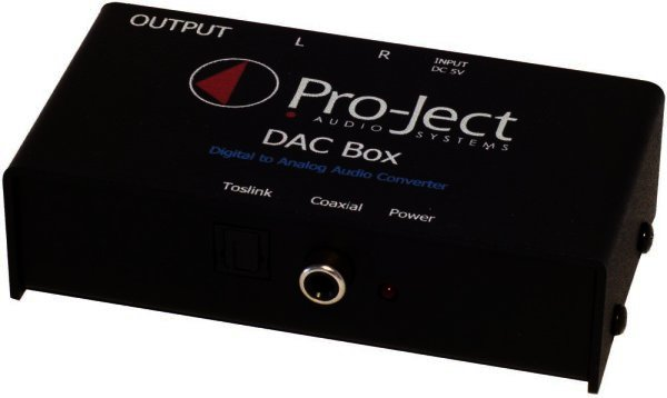 Pro-Ject DAC Box TV - DA Wandler DAC für TV, Spielekonsolen