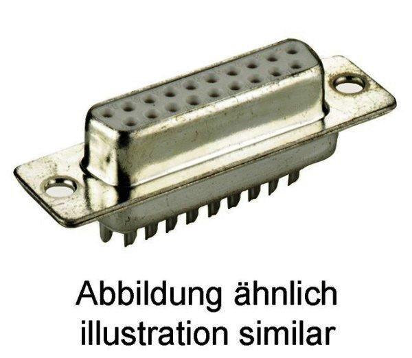 SUB-D-Standard Buchsenleiste 15-polig Lötkelch