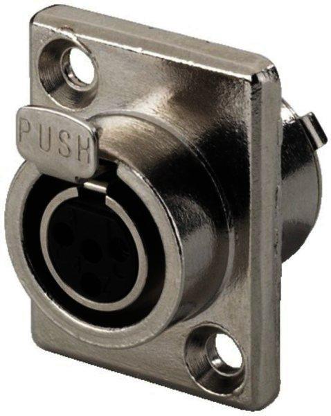 XLR-408/J - Miniatur-XLR-Einbauarmatur, 4-polig, Buchse