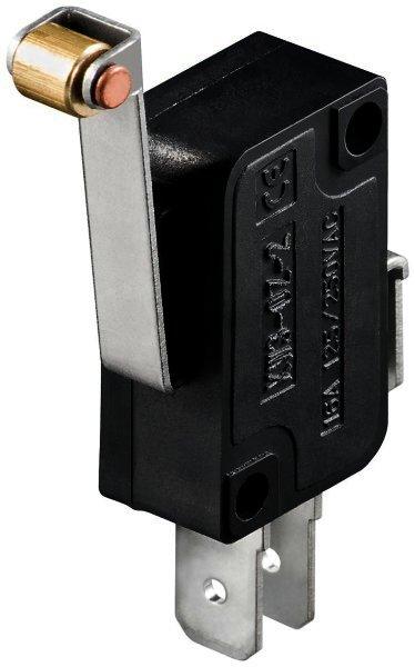 Mikroschalter Wechselschalter / 1 polig - mit langem Rollenhebel max. Werte: 5 A / 125 VDC / 250 V