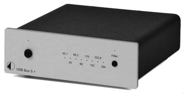RETOURE Pro-Ject USB Box S+ Premium Computeraudio mit USB 2.0 Silber