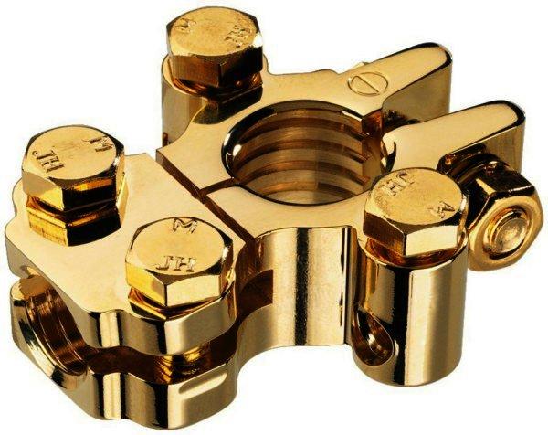 CPC-32G - Minuspolklemme vergoldet für Batteriepole