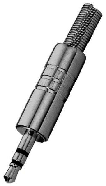PG-203PM 3,5mm Stereo-Klinkenstecker für Kabel Ø 4,5mm